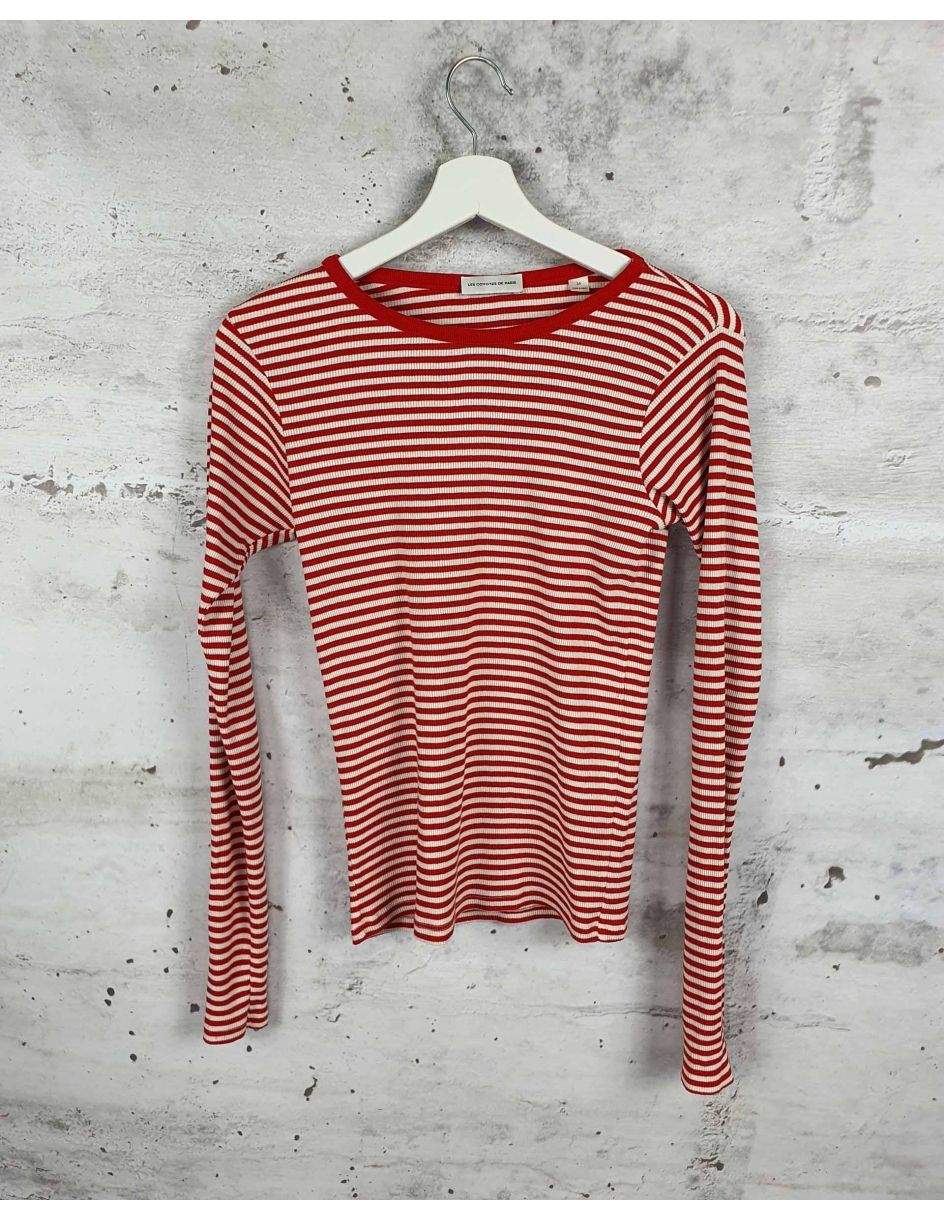 White and red striped blouse Les Coyotes de Paris - 1