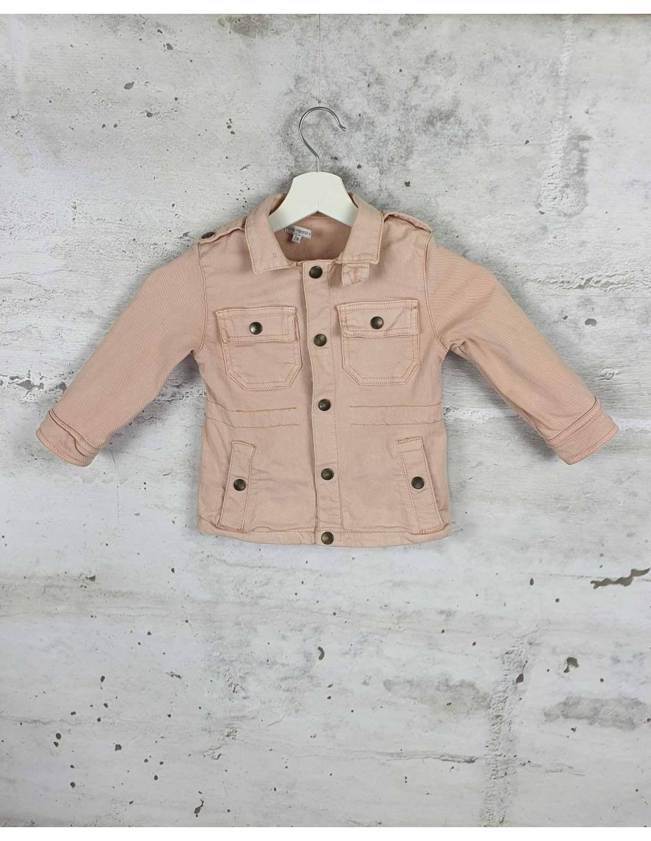 Pink denim jacket with press studs Louis Louise pre-owned