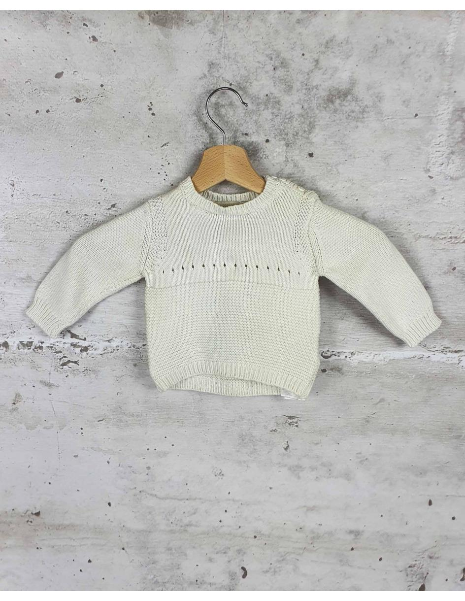 White sweater with a print Stella McCartney Kids pre-owned
