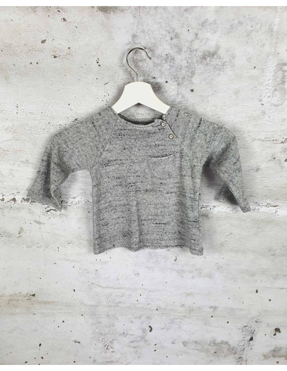 Gray terry blouse with a pocket Buho Barcelona pre-owned