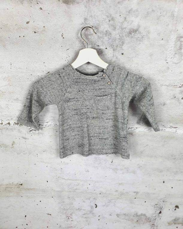Gray terry blouse with a pocket Buho Barcelona - 1