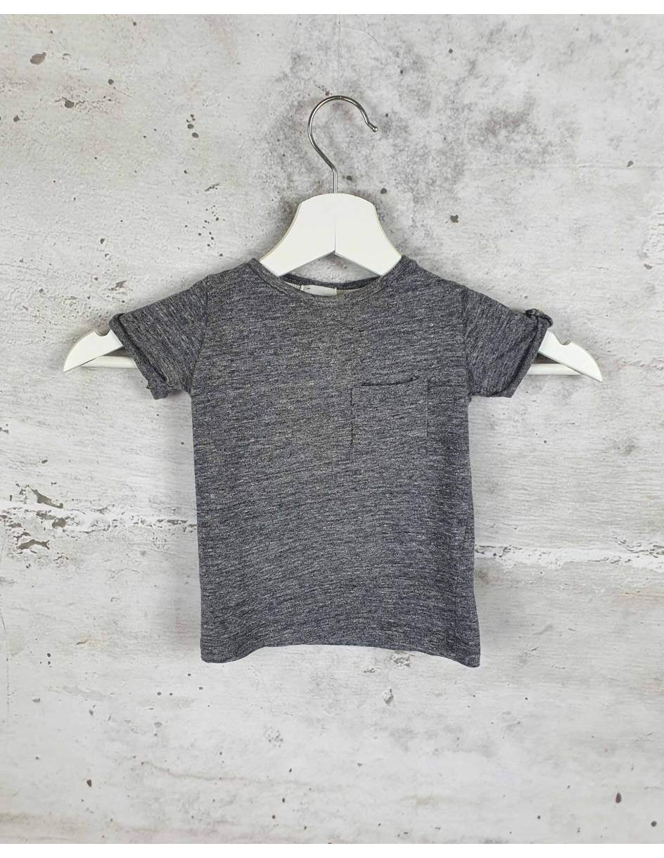 Gray T-shirt with a pocket Buho Barcelona pre-owned