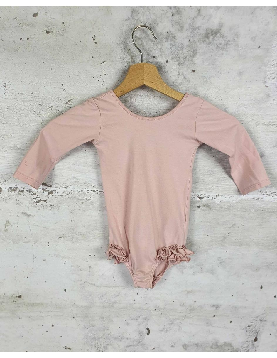 Pink bodysuit with frills Girls on tiptoes - 1