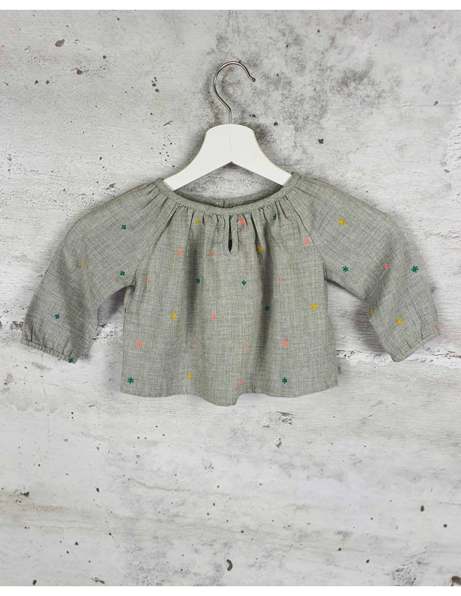 Gray blouse with embroidery Bonheur Du Jour Paris - 1