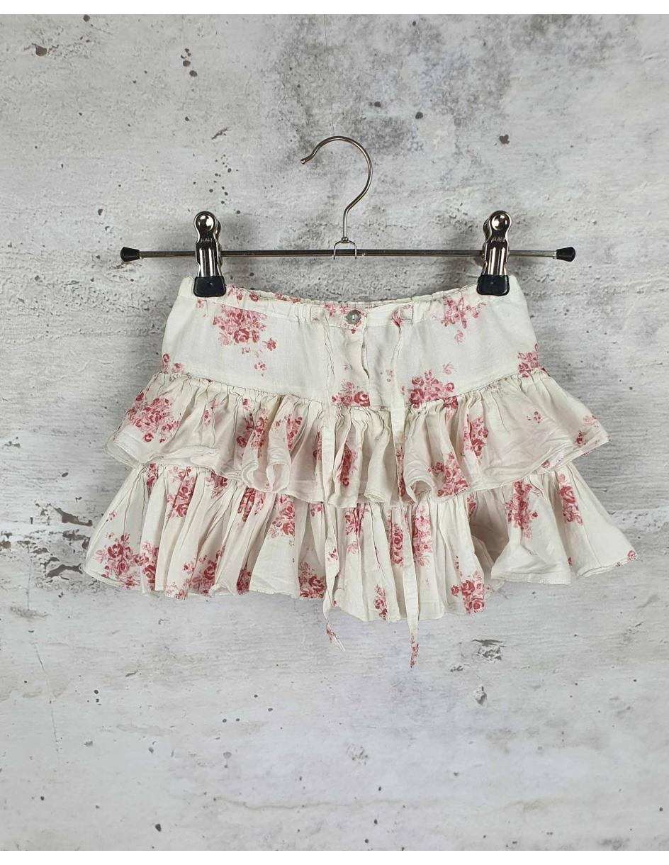 White skirt with flowers Louis Louise pre-owned