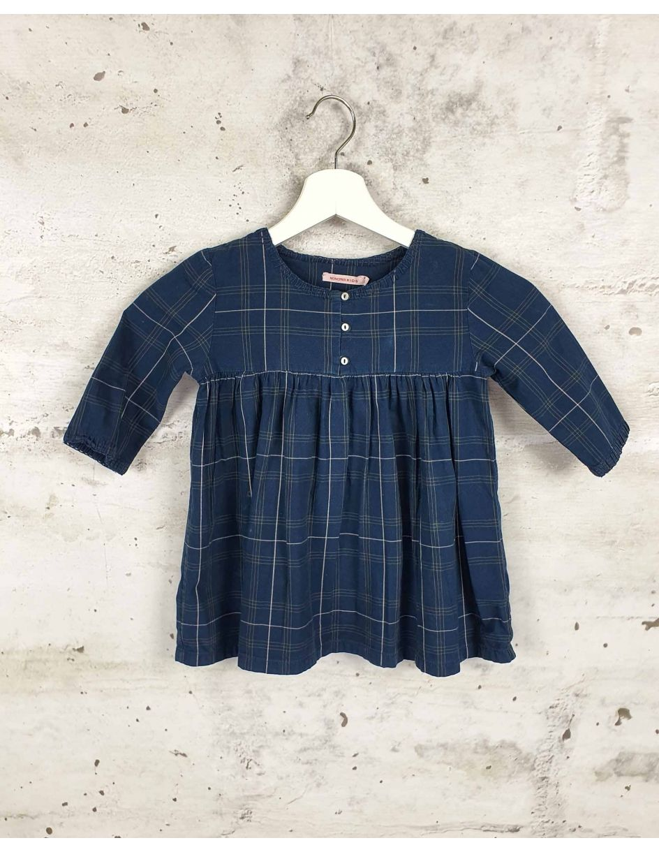 A navy blue checked blouse Monoprix Kids - 1