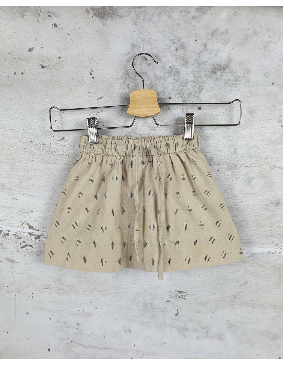 Beige skirt with a print April showers by polder pre-owned