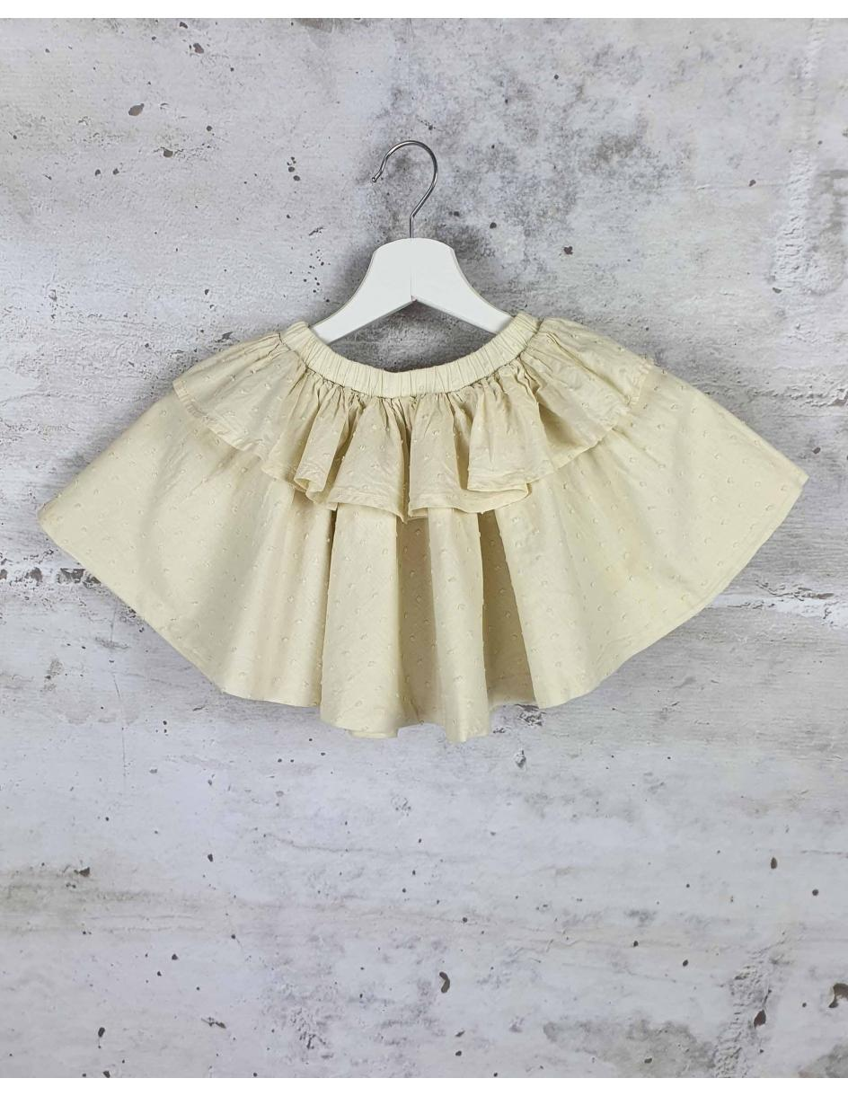 Ecru skirt with a frill Tocoto Vintage - 1