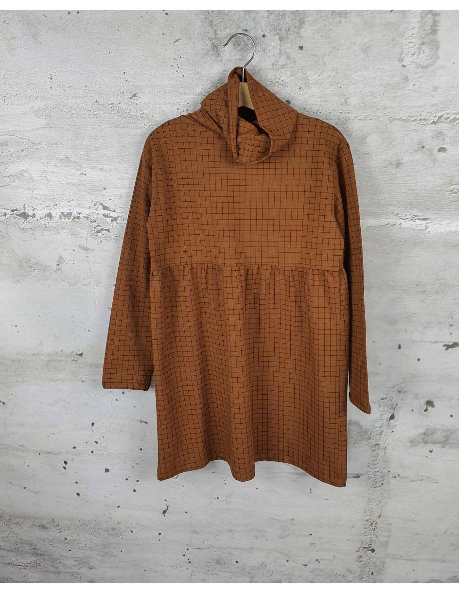 Brown turtleneck dress Tiny Cottons pre-owned