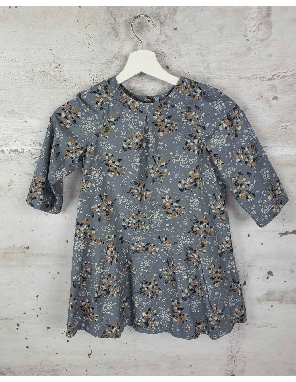 Gray dress with flowers Bonpoint pre-owned