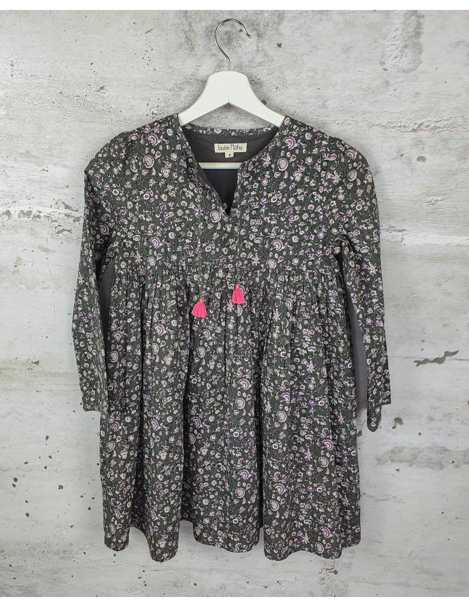 Gray dress with flowers Louise Misha pre-owned