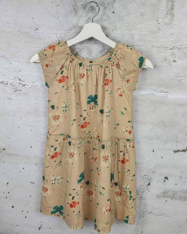 Beige dress with flowers Bonpoint pre-owned