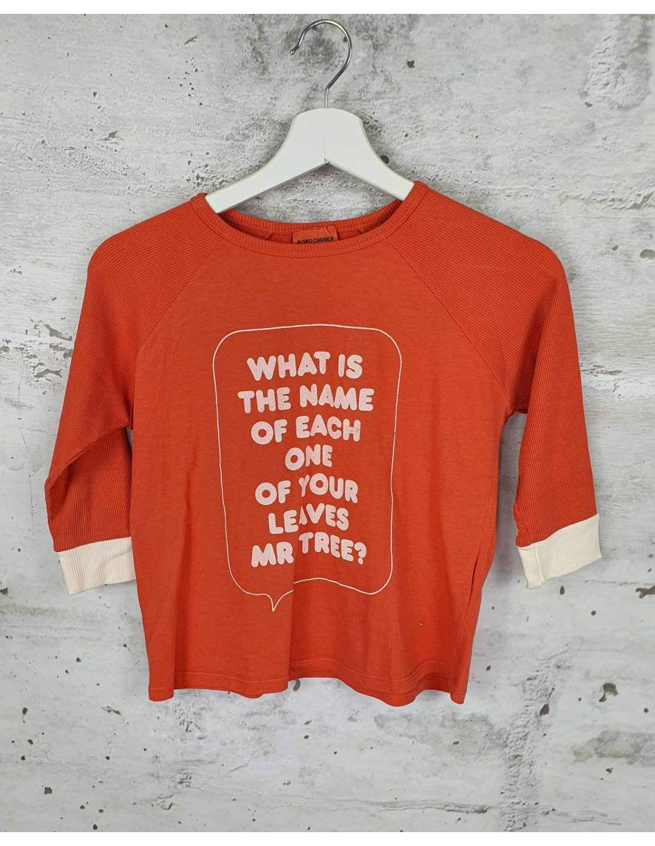 Orange blouse with a print Bobo Choses pre-owned