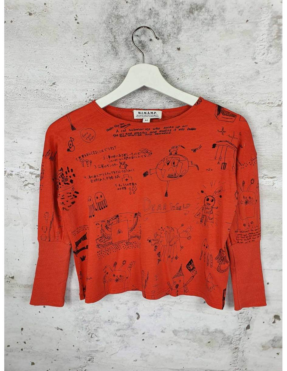 Red blouse with a print Bobo Choses pre-owned