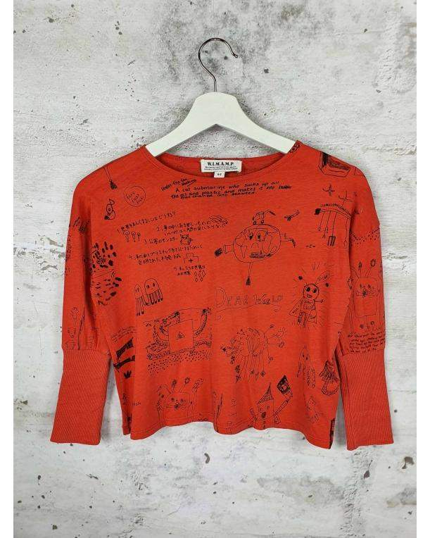 Red blouse with a print Bobo Choses - 1