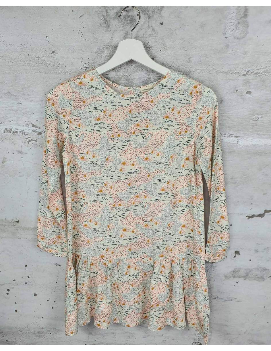 Beige dress with a print HUNDRED PIECES pre-owned