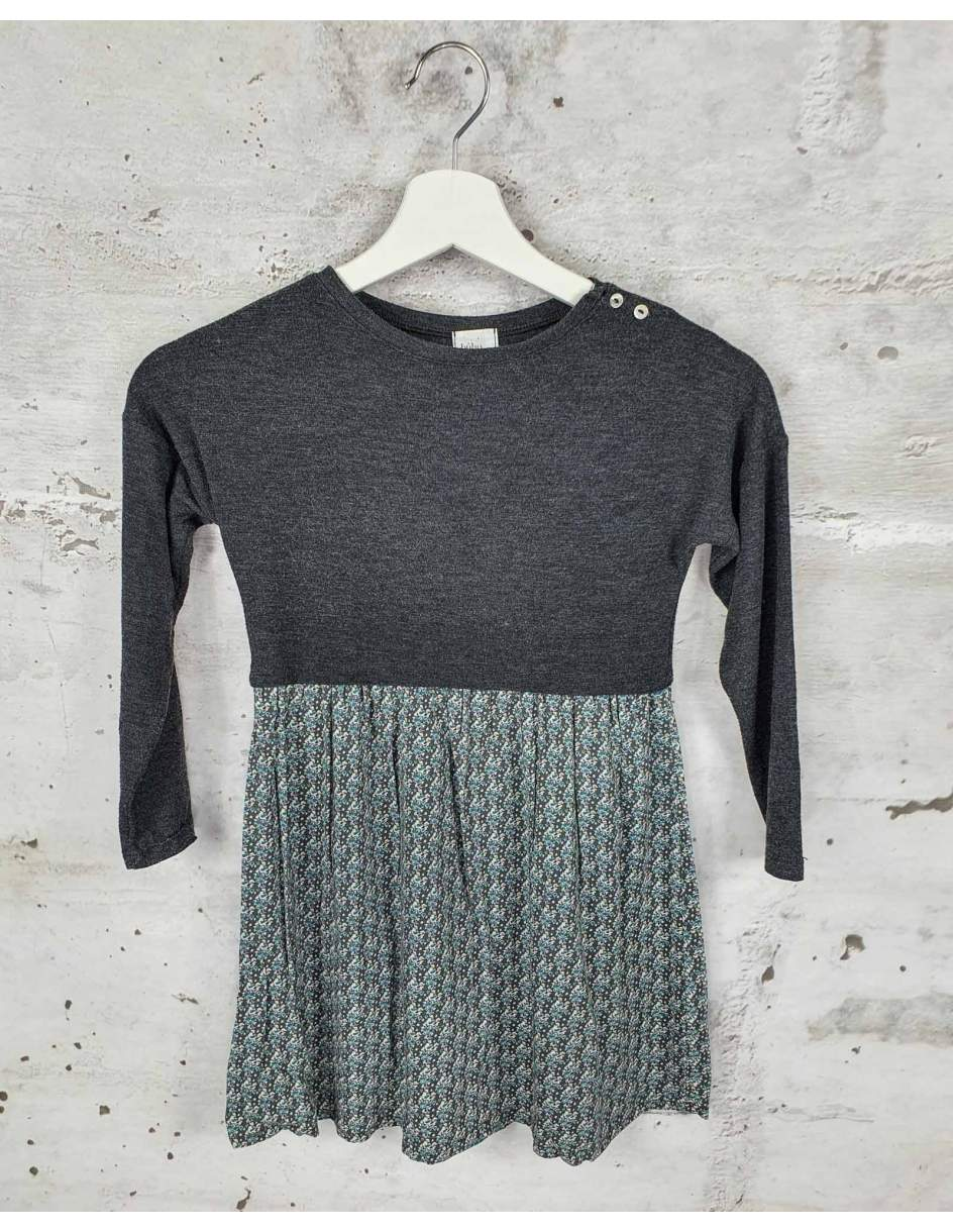 Gray dress with flowers Buho Barcelona pre-owned