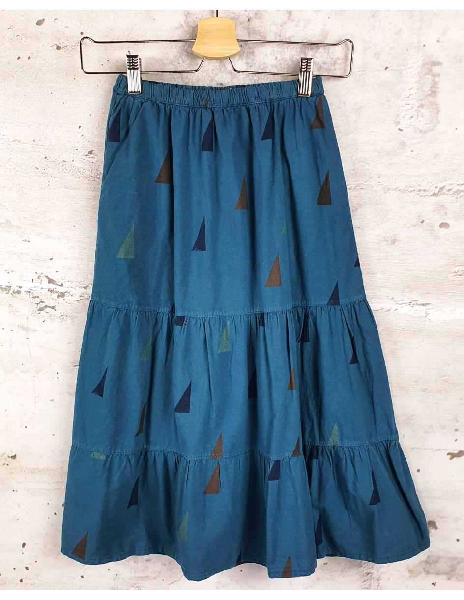 Blue skirt with triangles Bobo Choses - 1
