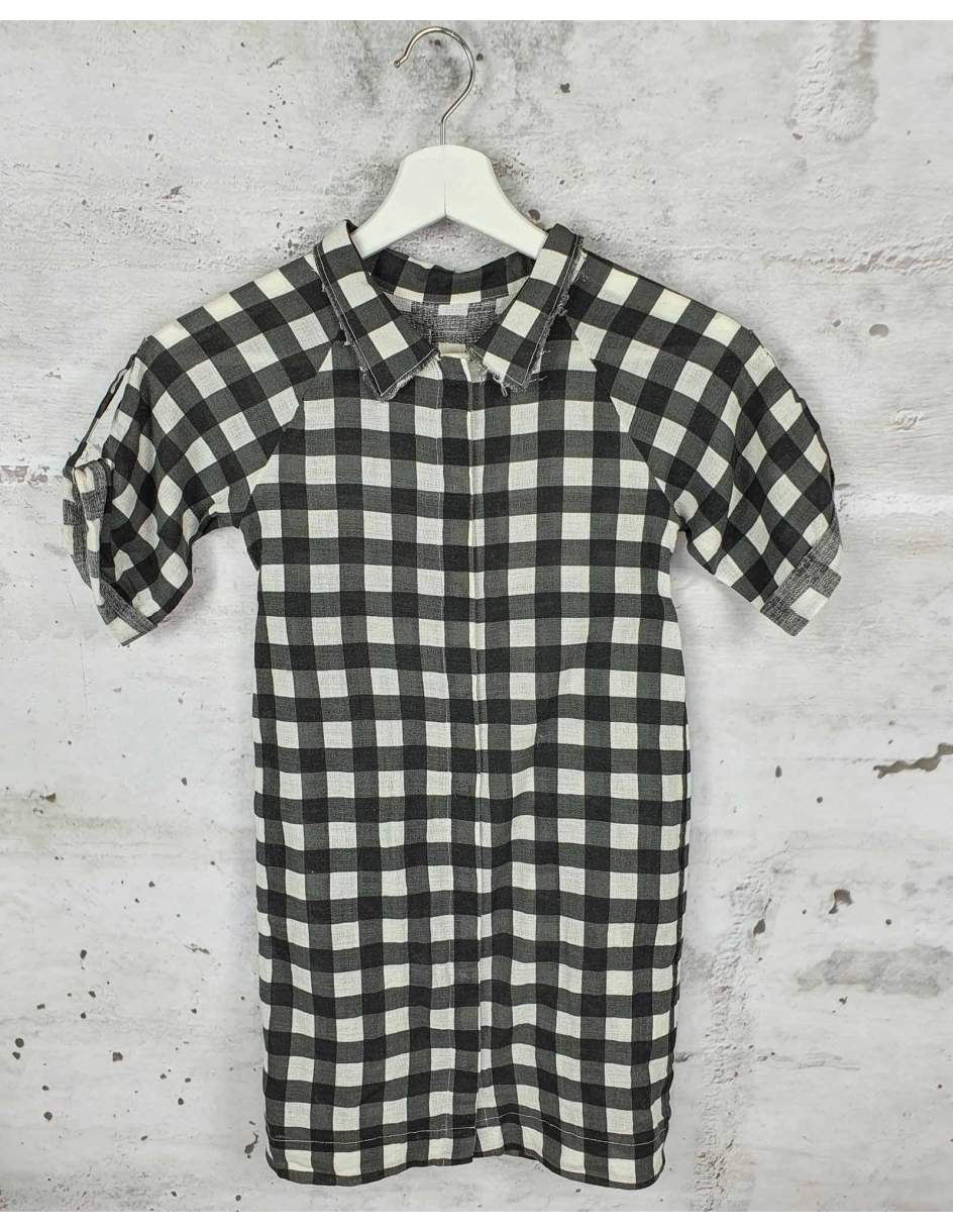 Black checkered dress Little Creative Factory pre-owned