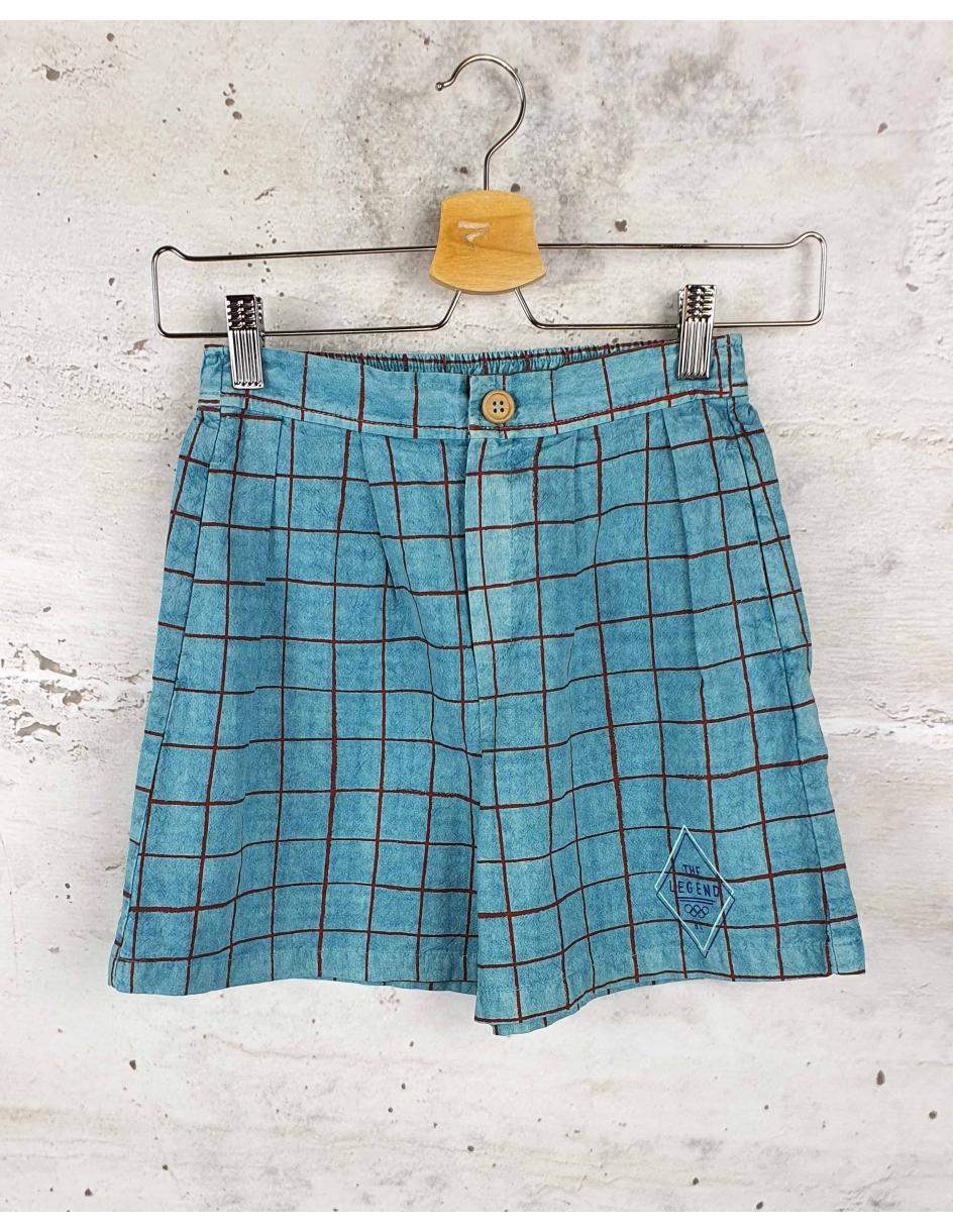 Blue checkered shorts Bobo Choses pre-owned