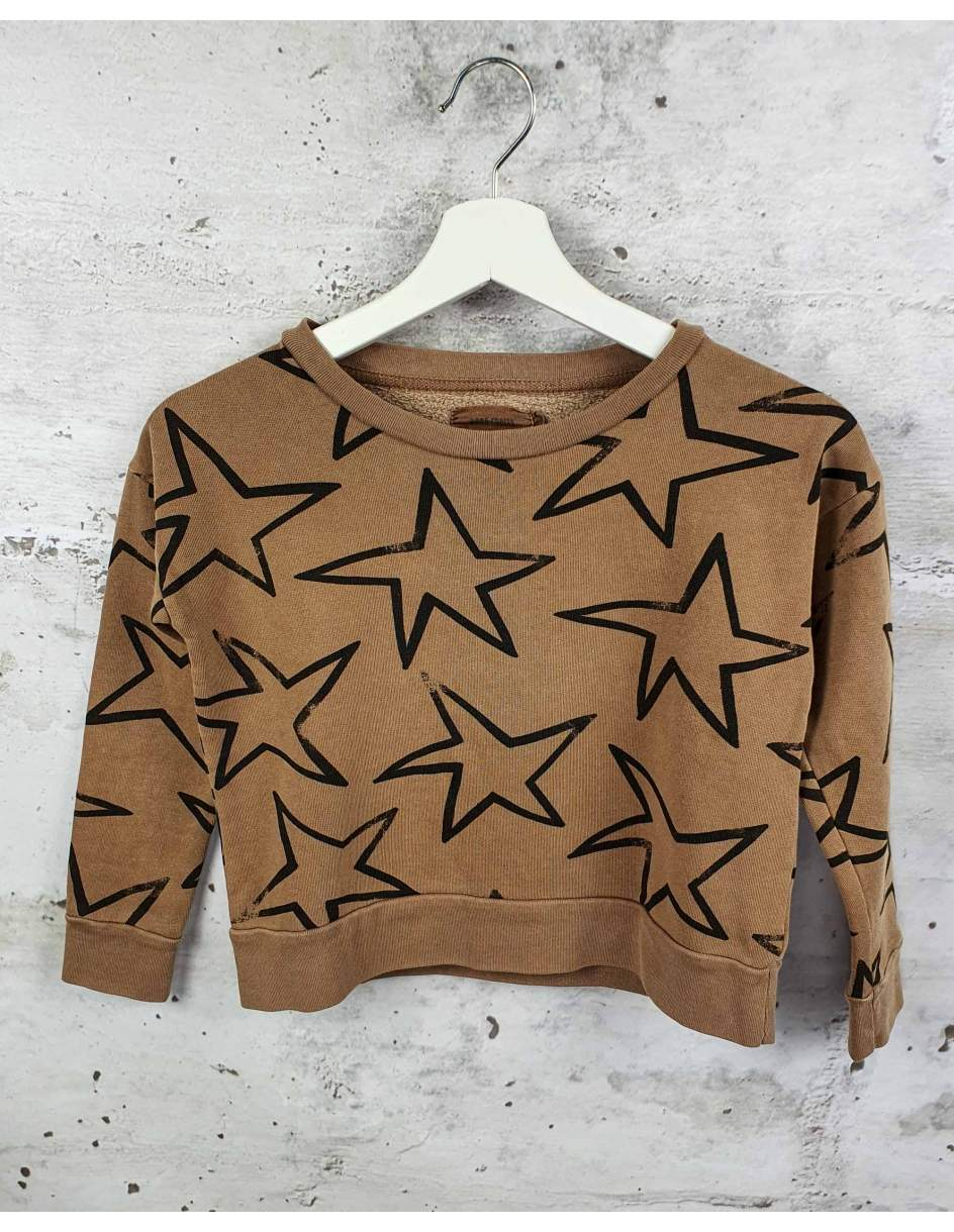 Brown sweatshirt with stars Bobo Choses pre-owned