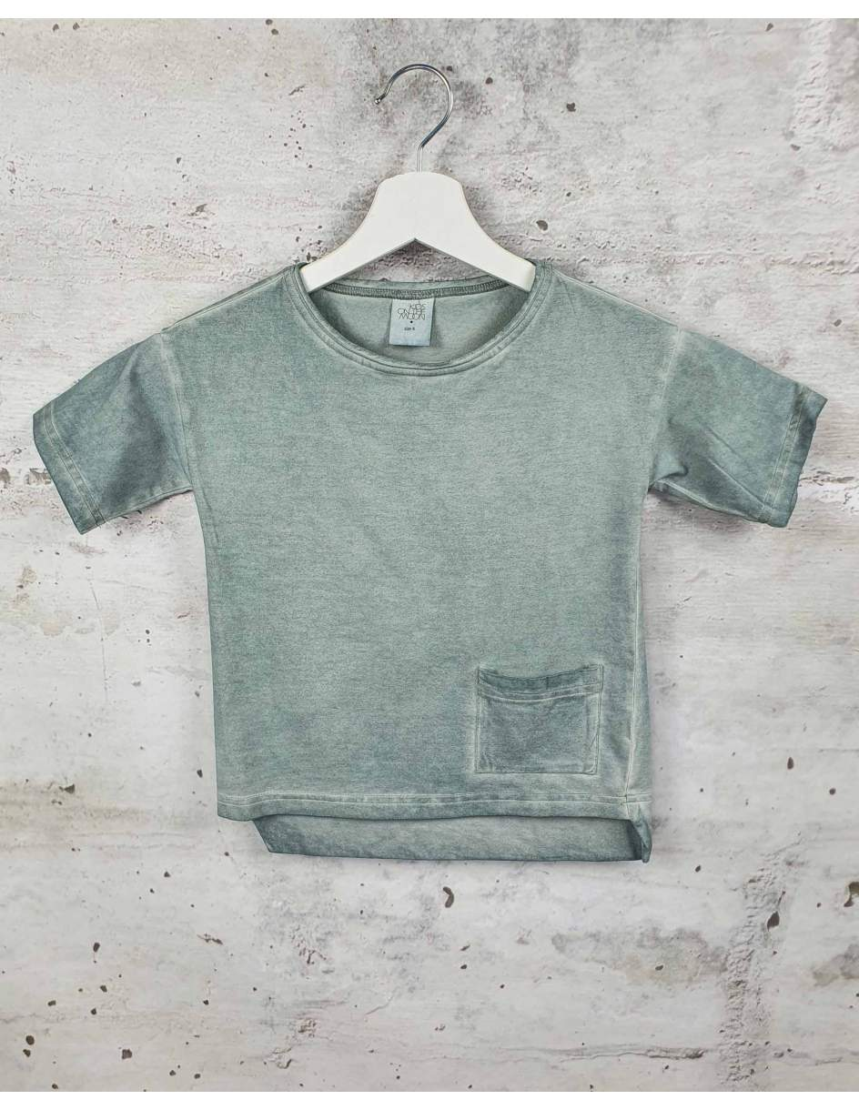 Blue blouse with a pocket Kids On The Moon pre-owned