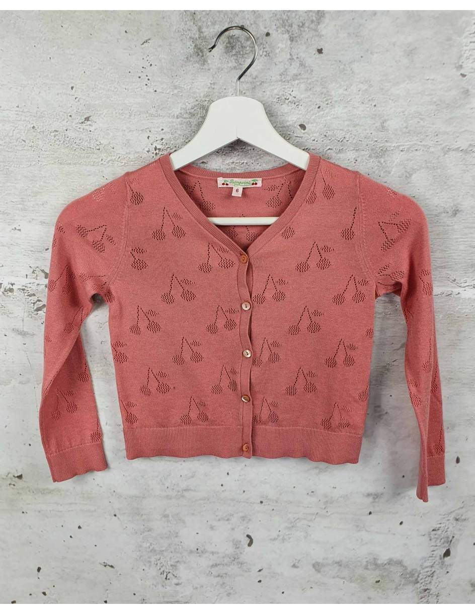 Pink openwork sweater Bonpoint pre-owned