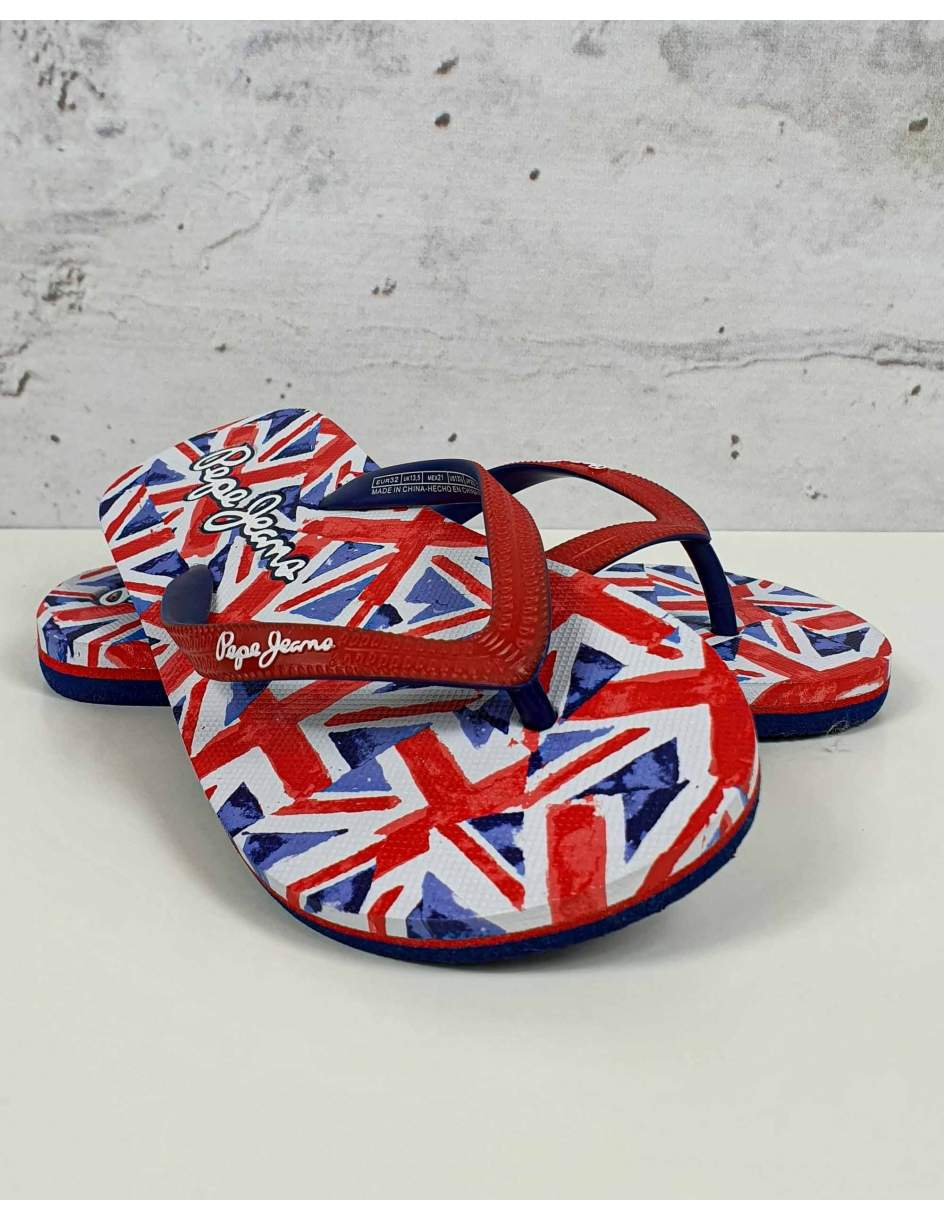 Red and navy blue flip-flops Pepe Jeans - 1