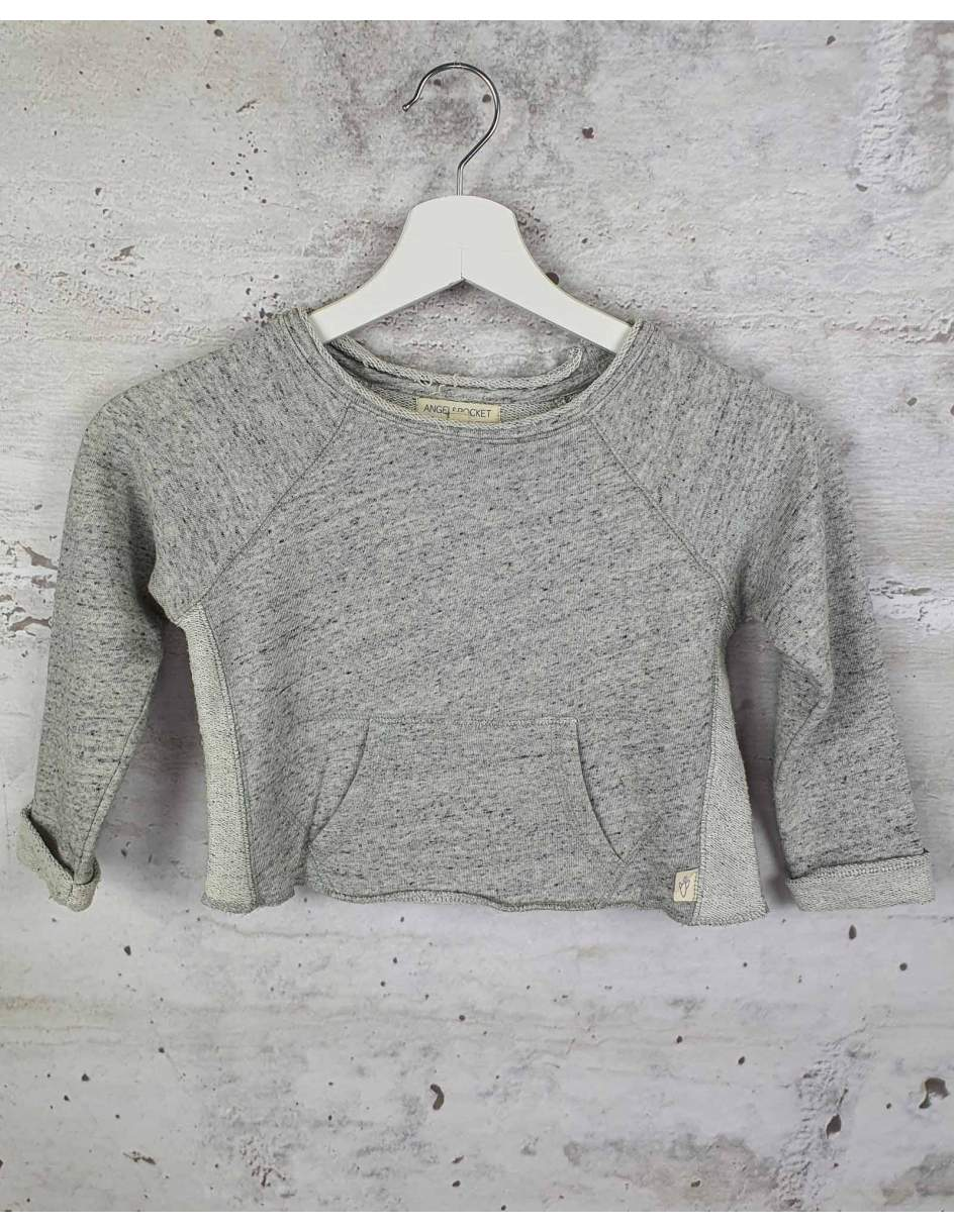 Gray sweatshirt with a pocket ANGEL&ROCKET pre-owned