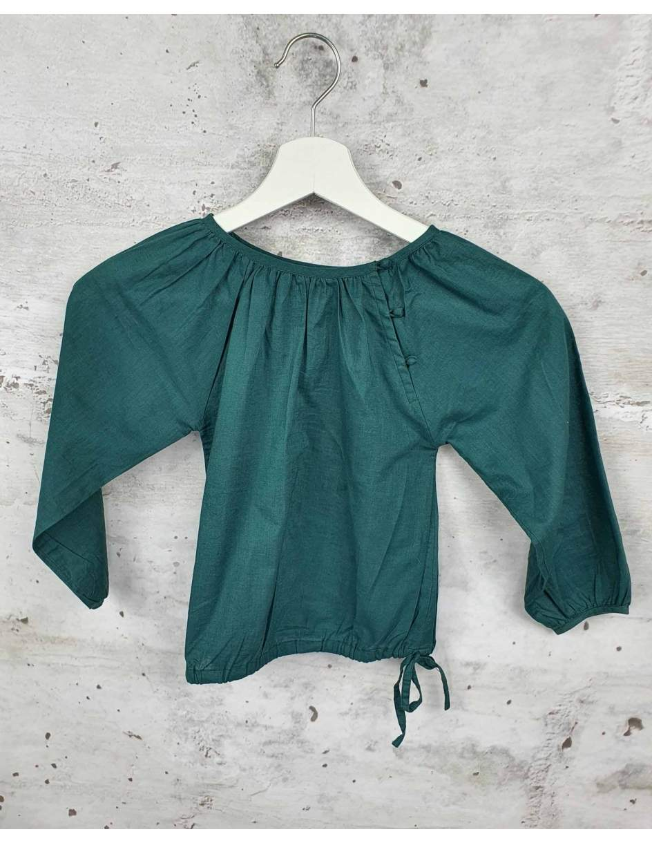 Green blouse with buttons Ketiketa pre-owned