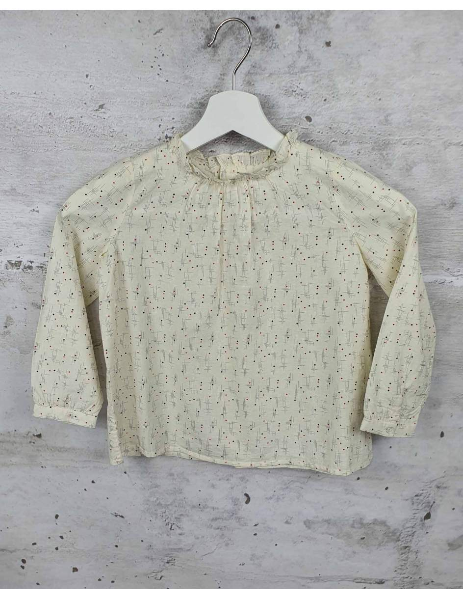 Beige blouse with a frill Bonpoint pre-owned