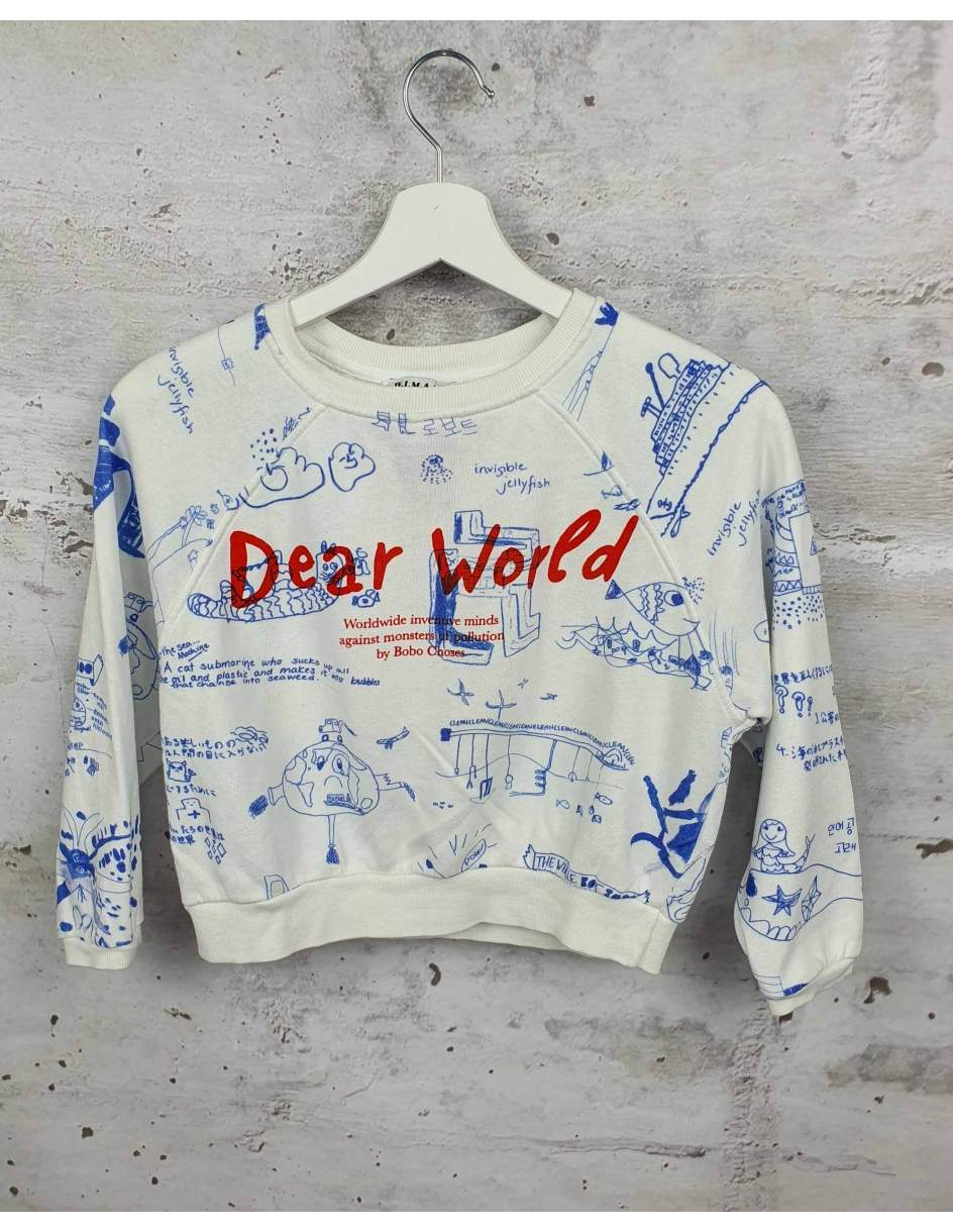 White sweatshirt with a print Bobo Choses pre-owned
