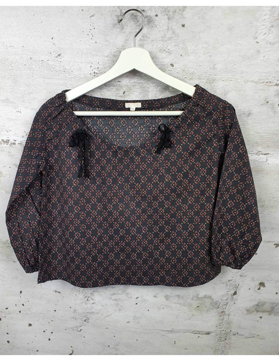 Black blouse with bows Talc pre-owned