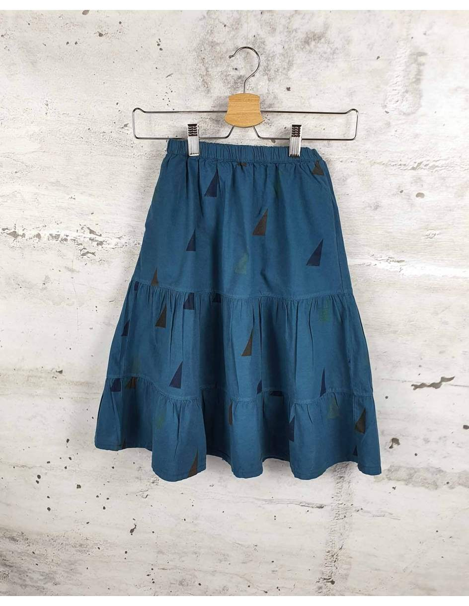 Blue skirt with triangles Bobo Choses - 0