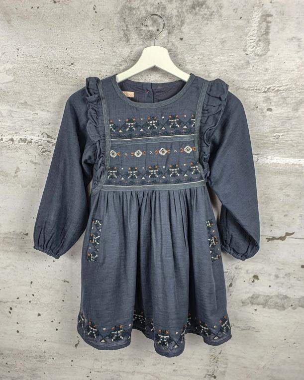 Gray embroidered dress Louise Misha - 0