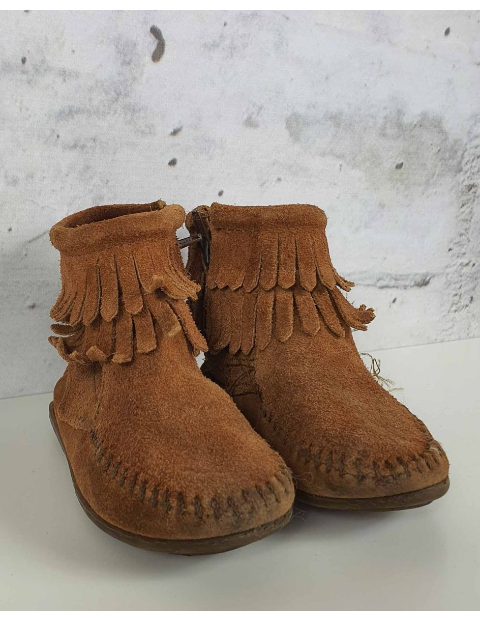 Brown fringed boots Minnetonka - 1