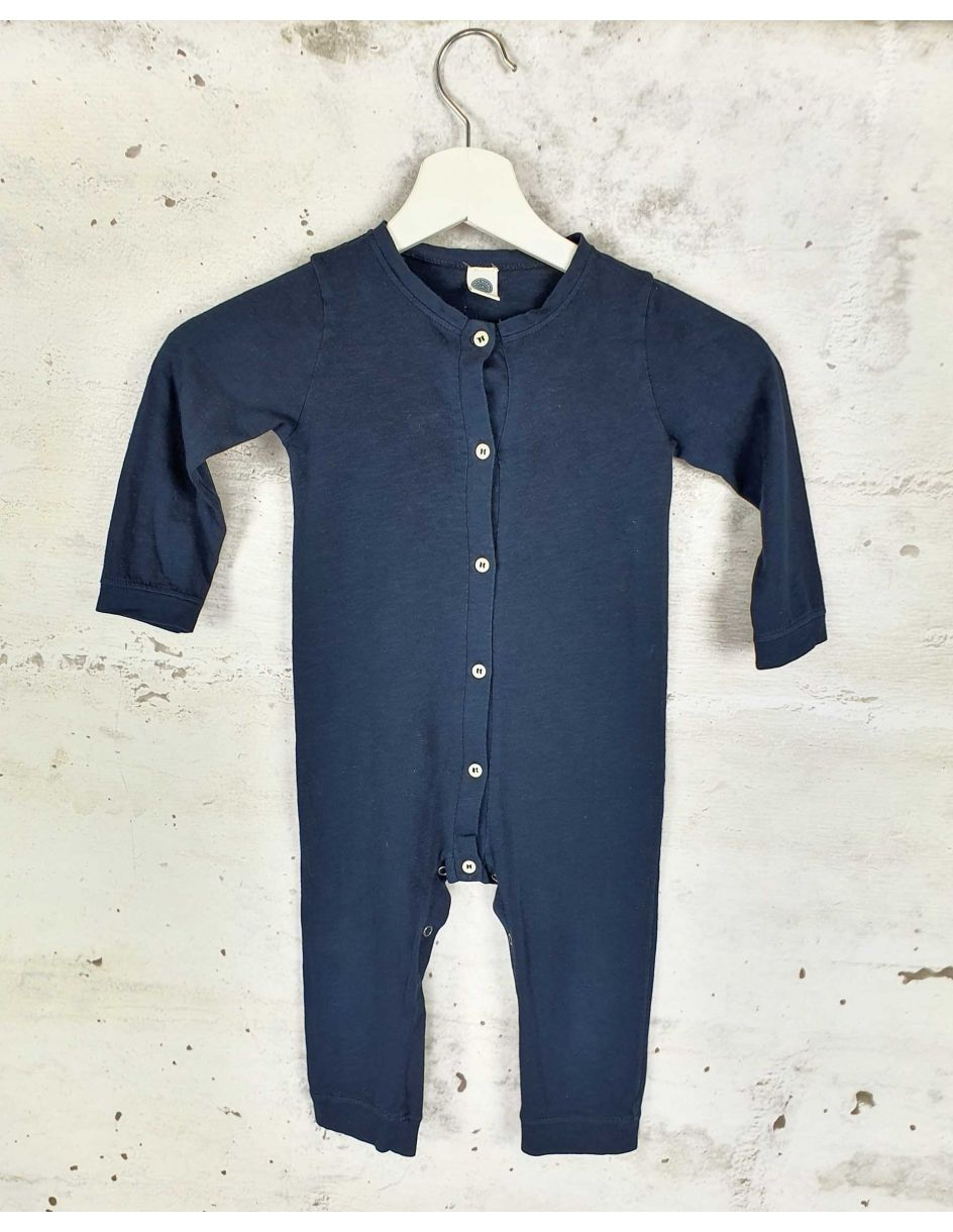 Buttoned navy jumpsuit Le Petit Germain - 1