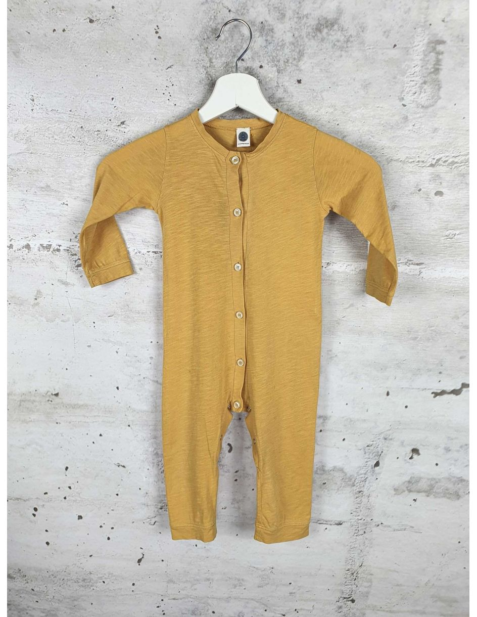 Yellow buttoned jumpsuit Le Petit Germain - 1