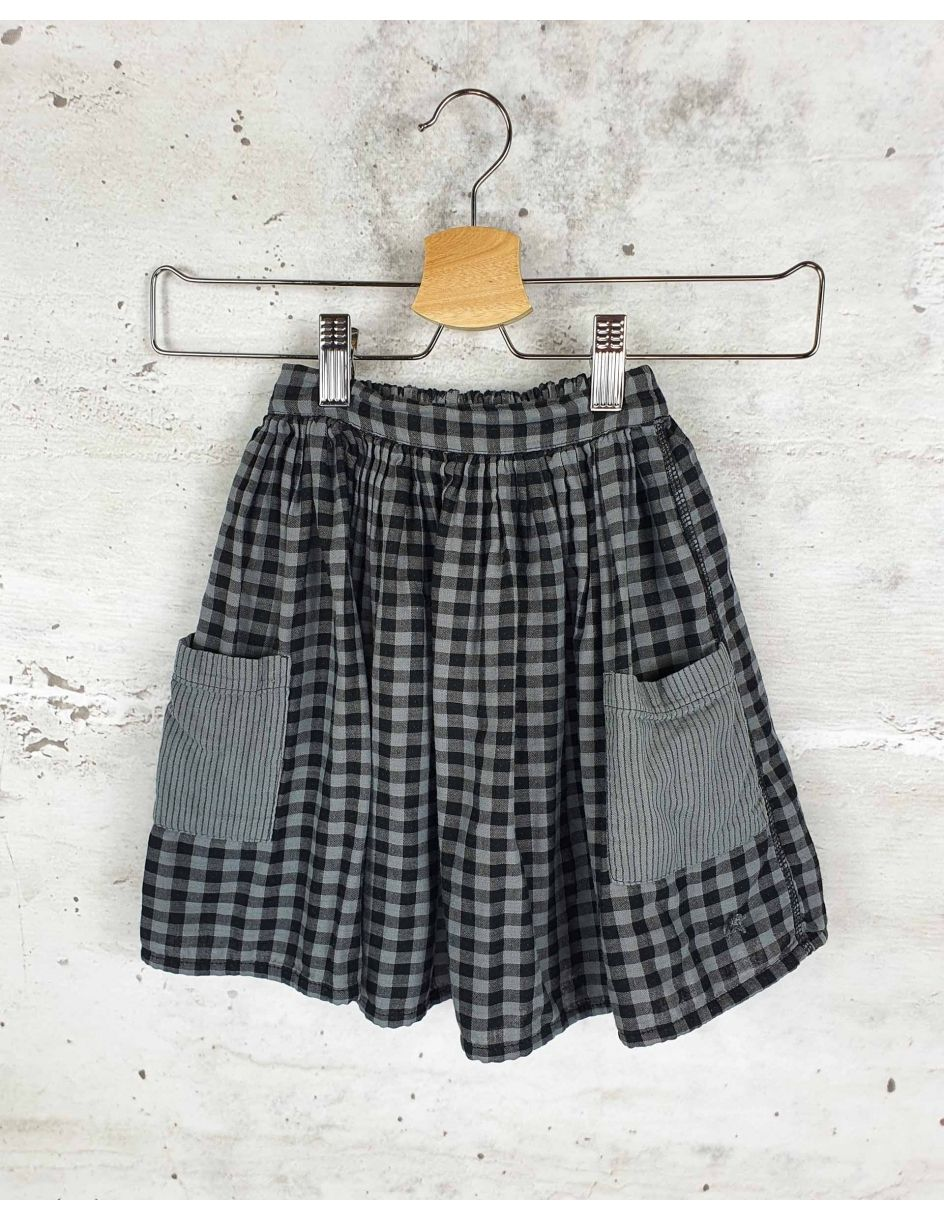 Gray plaid skirt Tocoto Vintage - 1