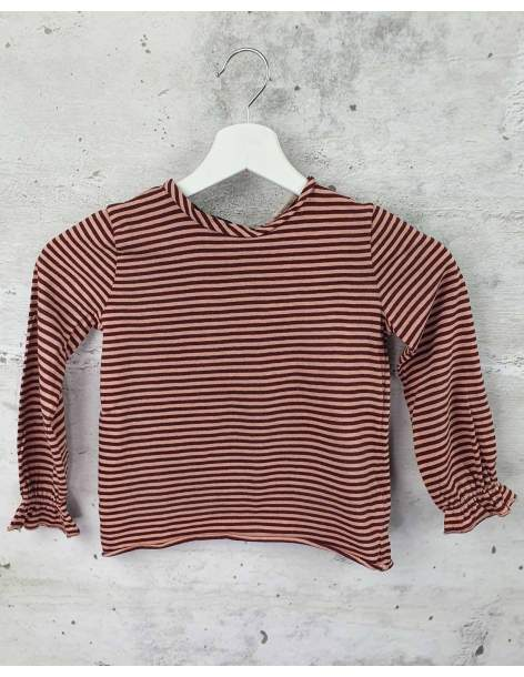 Burgundy striped blouse Babe & Tess pre-owned