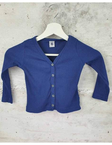 Navy blue blouse with buttons Petit Bateau pre-owned
