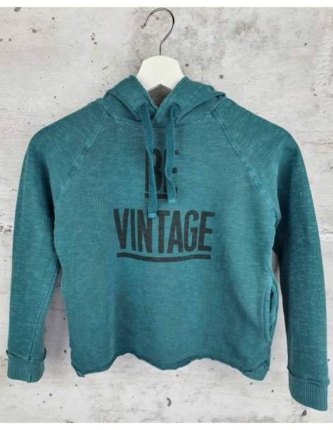 Turquoise hooded sweatshirt Tocoto Vintage pre-owned