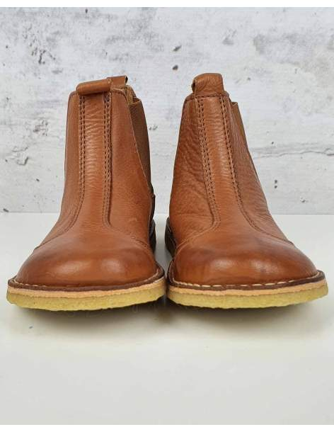 Brown leather boots bisgaard - 1