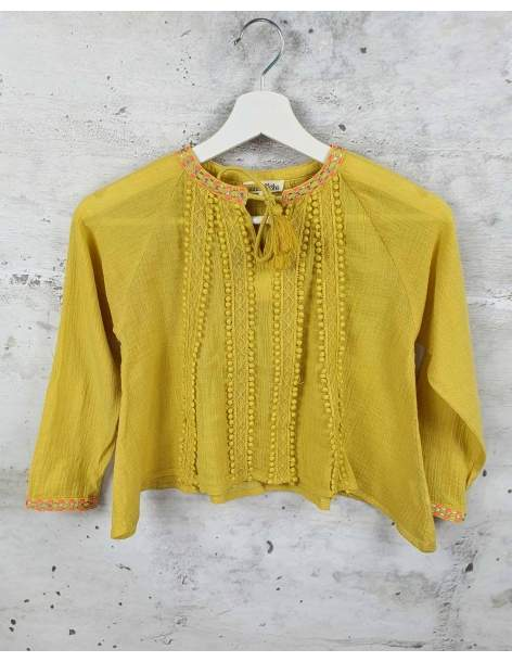 Mustard blouse with embroidery Louise Misha - 1