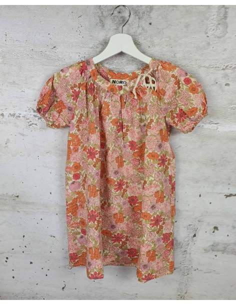 Orange dress with flowers NORO pre-owned