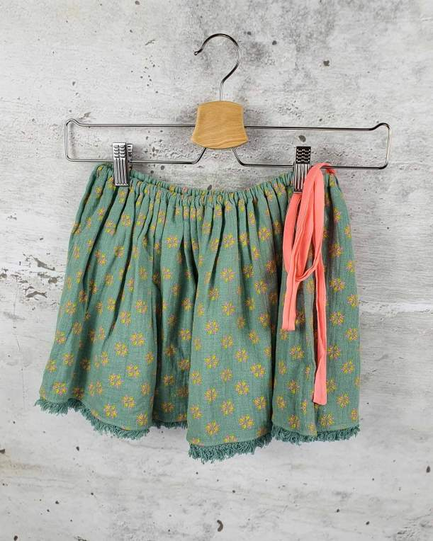 Green skirt with a bow Louise Misha - 1