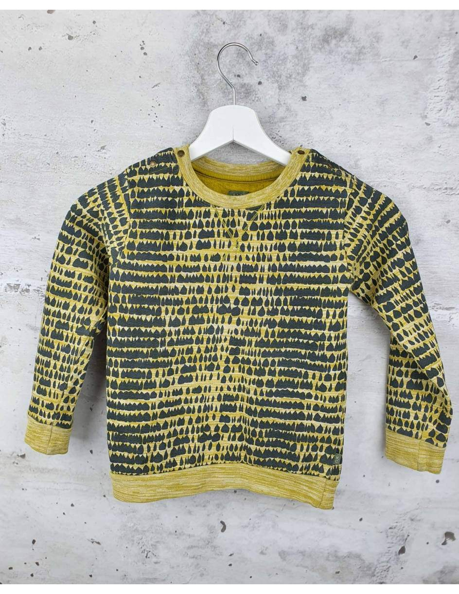 Yellow printed sweatshirt Kids Case - 1