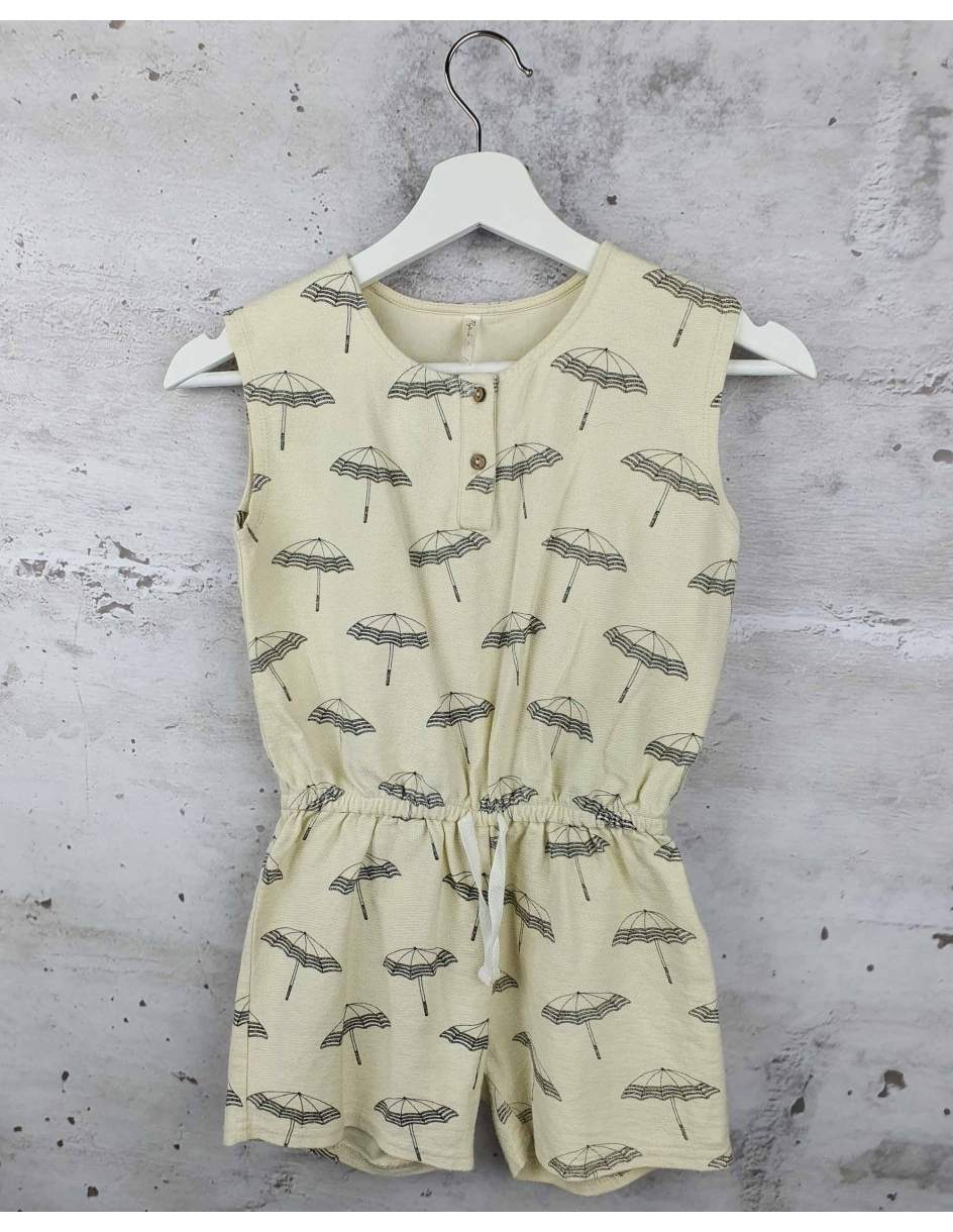 Cream jumpsuit with a print Rylee and Cru pre-owned