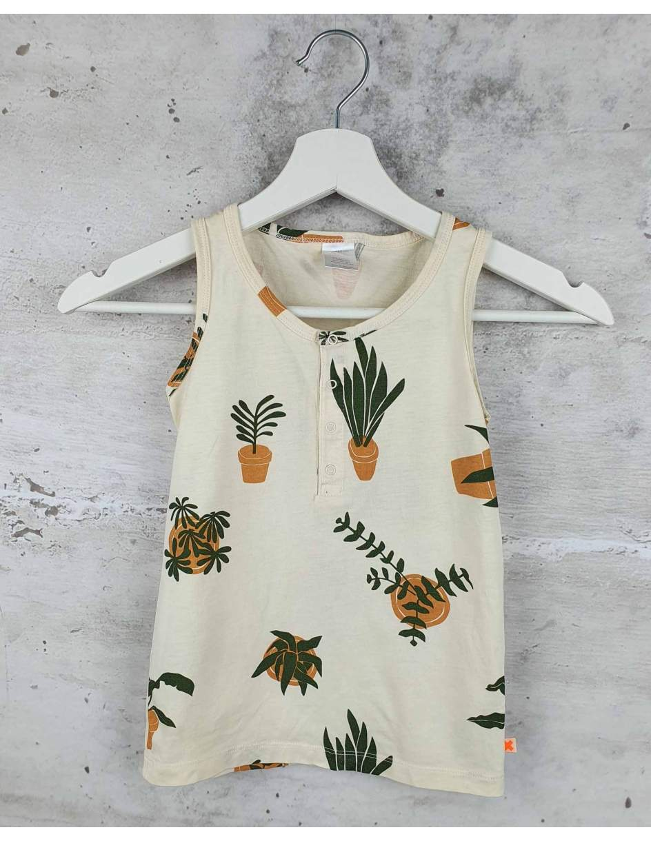 Cream T-shirt with print Tiny Cottons pre-owned