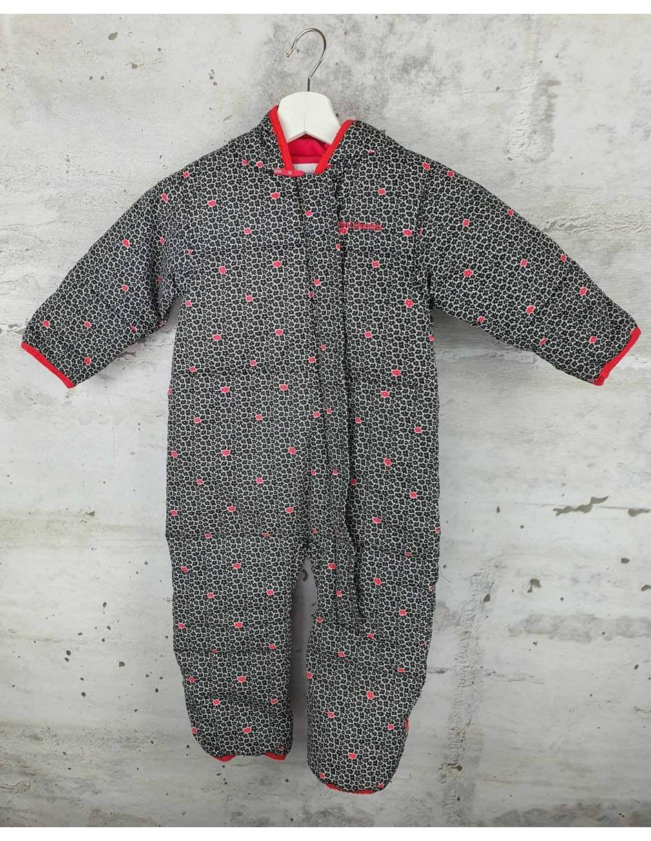 Winter coverall with flowers COLUMBIA - 1